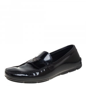 حذاء لوفرز برادا سليب أون جلد أسود مقاس 40.5