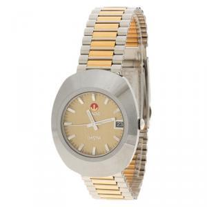 Rado Diastar Gold Stainless Steel Original Men's Wristwatch 35MM