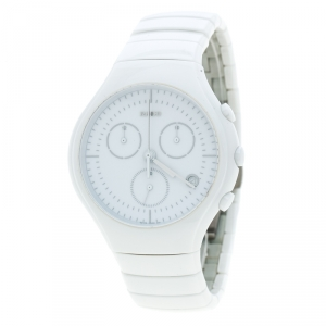 Rado True White Ceramic Chronograph Jubilee 541.0832.3.001 Men's Wristwatch 44 mm