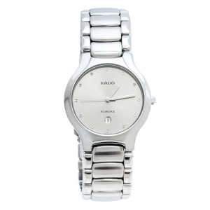 Rado Silver Grey Stainless Steel Florence 129.3755.4 Men's Wristwatch 33 mm
