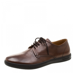 Giorgio Armani Brown Leather Lace Up Derby Size 42