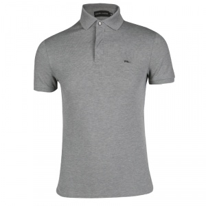 Ralph Lauren Grey Zip Front Polo T-Shirt S