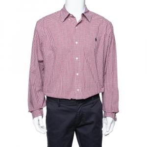 Ralph Lauren Red Gingham Check Cotton Long Sleeve Shirt XL