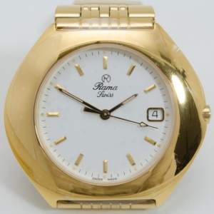 Rama Swiss Watch Gold Plated Unisex Wristwatch