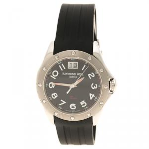 Raymond Weil Black Tango Rubber Men's Wristwatch 37MM