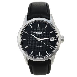 ساعة يد رجالية ريموند ويل أوتوماتيك فريلانسر 2740-أس تي سي-20021 جلد ستانلس ستيل أسود 42.50 مم