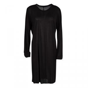 تي شيرت ريك اوينز طويل رقبة مستديرة أكمام طويلة جيرسي أسود XL
