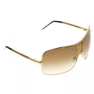 Roberto Cavalli Gold/Black 319 Areopago Shield Sunglasses