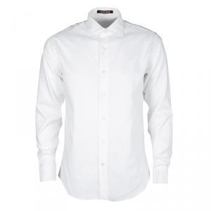 Roberto Cavalli White Cotton Long Sleeve Slim Fit Shirt L