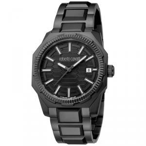 Roberto Cavalli Black Stainless Steel RV1G025M0061 Men's Wristwatch 40MM
