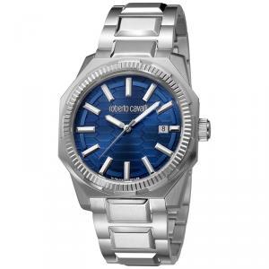 Roberto Cavalli Navy Stainless Steel RV1G025M0051 Men's Wristwatch 40MM