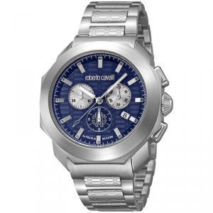 Roberto Cavalli Dark Blue Stainless Steel RV1G044M0071 Men's Wristwatch 44MM