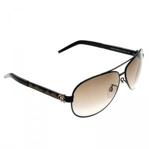 Roberto Cavalli Black Gorgonea 892S Aviator Sunglasses