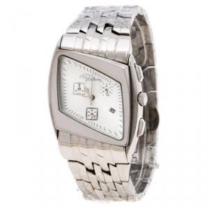 Roberto Cavalli Silver Stainless Steel Kite Chronograph R7253975015 Men's Wristwatch 38 mm