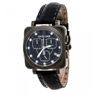 Roberto Cavalli Black PVD Coated Stainless Steel Bohemienne Men's Wristwatch 40 mm