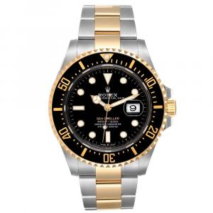Rolex Black 18K Yellow Gold And Stainless Steel Seadweller 126603 Men's Wristwatch 43 MM