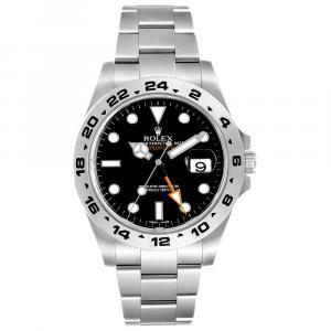 ساعة يد رجالية رولكس إكسبلورر II 216570 ستانلس ستيل سوداء 42 مم