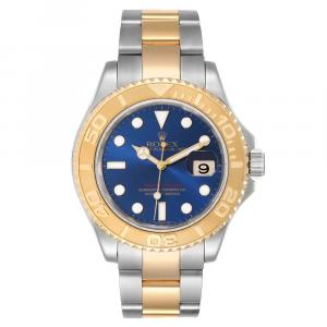 Rolex Blue 18K Yellow Gold And Stainless Steel Yachtmaster 16623 Men's Wristwatch 40 MM