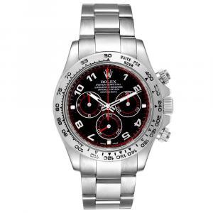 Rolex Black 18K White Gold Cosmograph Daytona 116509 Men's Wristwatch 40 MM