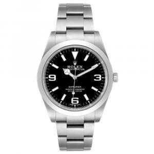 Rolex Balck Stainless Steel Explorer I Automatic 214270 Men's Wristwatch 39 MM