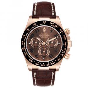 Rolex Brown 18K Rose Gold Cosmograph Daytona 116515 Men's Wristwatch 40 MM