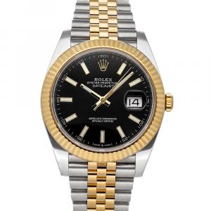 Rolex Black 18K Yellow Gold And Stainless Steel Datejust II 126333 Men's Wristwatch 41 MM