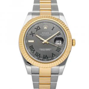 Rolex Gray 18K Yellow Gold And Stainless Steel Datejust II 116333 Men's Wristwatch 41 MM