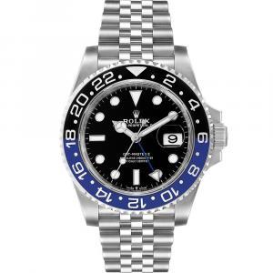 Rolex Blue Stainless Steel GMT Master II Batman 126710 Men's Wristwatch 40 MM