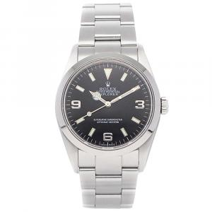 Rolex Black Stainless Steel Explorer 114270 Men's Wristwatch 36 MM