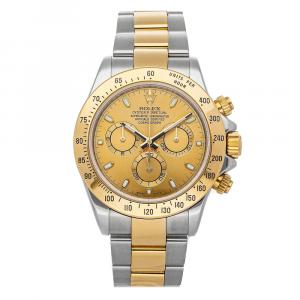 Rolex Champagne 18K Yellow Gold And Stainless Steel Cosmograph Daytona 116523 Men's Wristwatch 40 MM