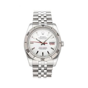 Rolex White Stainless Steel Datejust 116264 Men's Wristwatch 36 MM