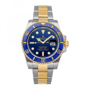 Rolex Blue 18K Yellow Gold And Stainless Steel Submariner Date 116613LB Men's Wristwatch 40 MM