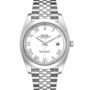 Rolex White Stainless Steel Datejust II 126300 Men's Wristwatch 41 MM