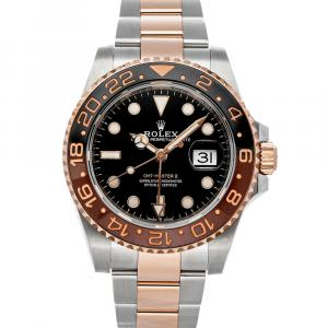"""Rolex Black 18k Rose Gold And Stainless Steel GMT-Master II """"Rootbeer"""" 126711CHNR Men's Wristwatch 40 MM"""