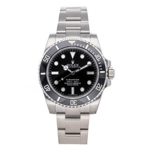 Rolex Black Stainless Steel Submariner 114060 Men's Wristwatch 40 MM
