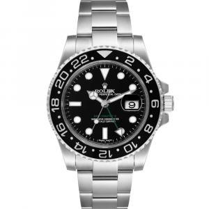 Rolex Black Stainless Steel GMT Master II 116710 Men's Wristwatch 40 MM