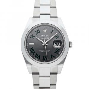 Rolex Grey Stainless Steel Datejust 126300 Men's Wristwatch 41 MM