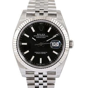 Rolex Black Stainless Steel Datejust 41 Men's Wristwatch 41 MM
