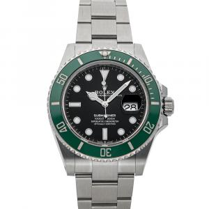 "Rolex Black Stainless Steel Submariner Date ""Kermit"" 126610LV Men's Wristwatch 41 MM"