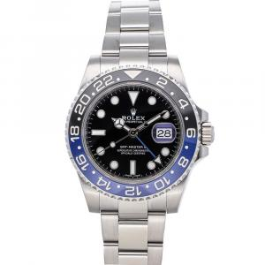 "Rolex Black Stainless Steel GMT-Master II ""Batman"" 116710BLNR Men's Wristwatch 40 MM"