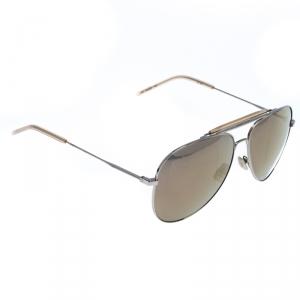 Saint Laurent Silver/Bronze Mirror Aviator Sunglasses