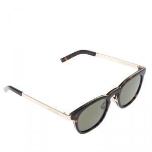 Saint Laurent Paris Havana/Green SL28COMBI Round Sunglasses