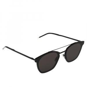Saint Laurent Black/Grey SL28 Aviator Sunglasses