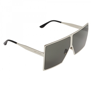 Saint Laurent Silver Tone/ Grey SL182 Betty Shield Sunglasses