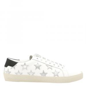 Saint Laurent White SL/06 Star Sneakers Size EU 39