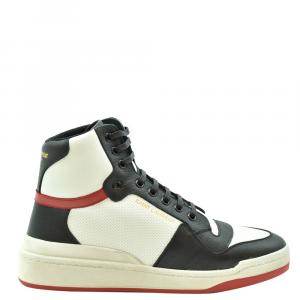 Saint Laurent Paris Multicolor SL24 Leather High-Top Sneakers Size EU 43