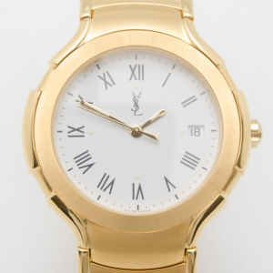Yves Saint Laurent All Gold Plated Classic Collection Unisex Wristwatch