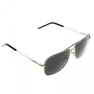 Saint Laurent Paris Black Classic 12 000F9 Square Sunglasses