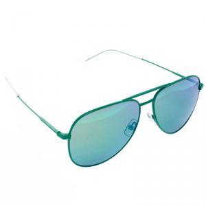 Saint Laurent Green Mirror Classic 11 Aviators Sunglasses