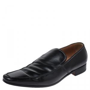 Saint Laurent Paris Black Leather Jailast Loafers Size 43